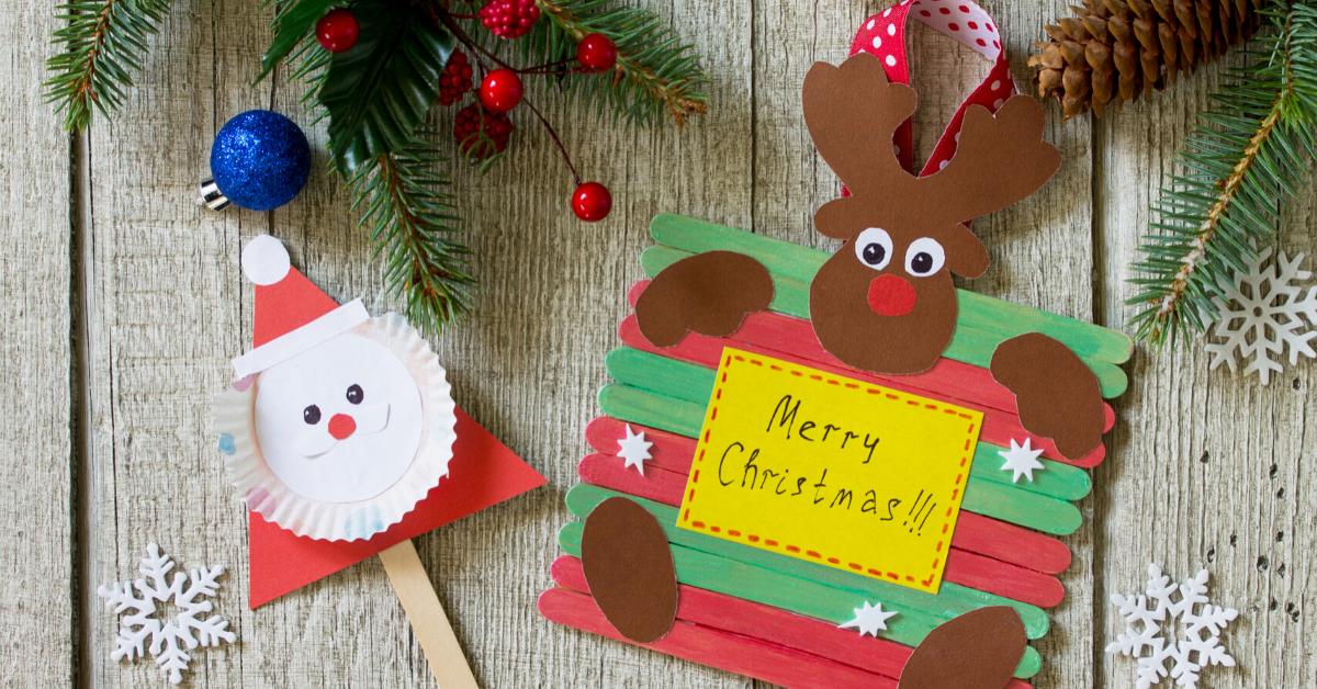 Lavoretti di Natale con materiale reciclato