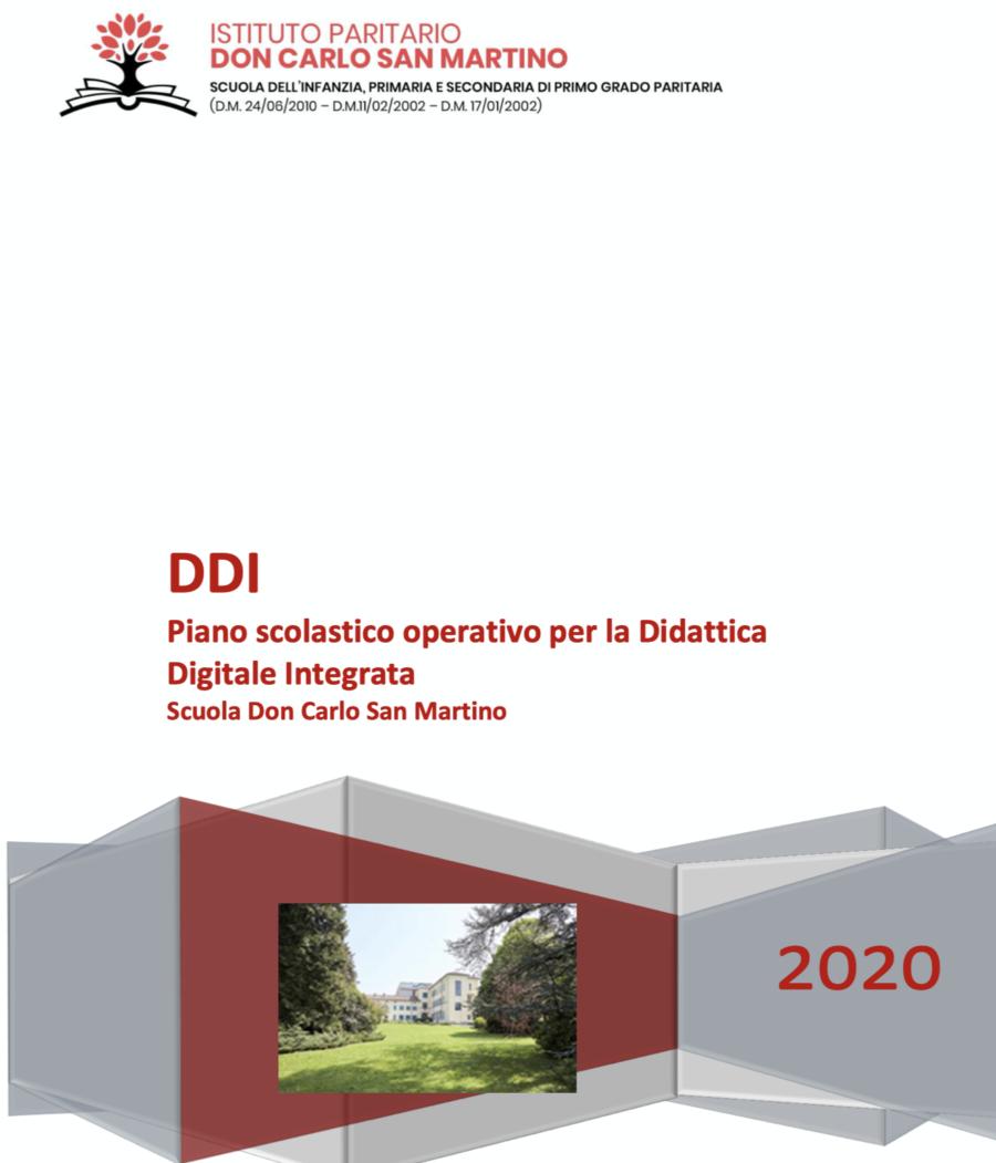 Piano scolastico operativo per la Didattica Digitale Integrata